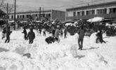 昭和43年2月15日の未明から降り出した雪は40センチを越え、17年振りの大雪となった。