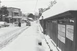 雪の日の長沢バス停留所付近のようすです。